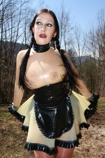 Latex Kleid Clear Maid