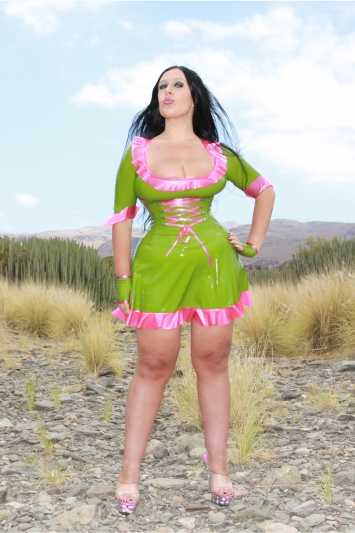 Latex Kleid Passion Fruit