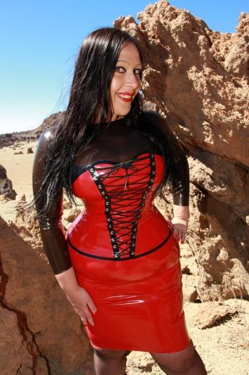 Latex Kleid Moulin Rouge