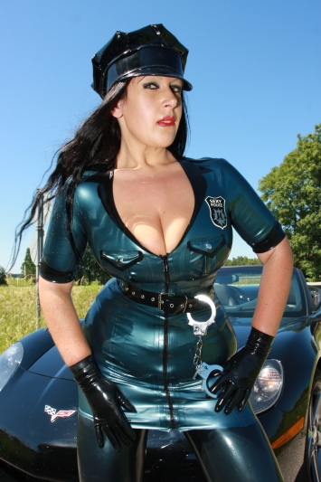 Latex Uniform Kleid Sexy Police