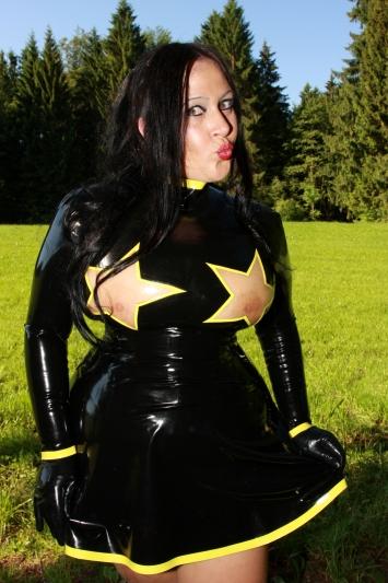 Latex Kleid Star Fighter