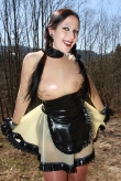 Clear Maid Latex Kleid