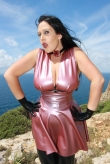 Latex Halsband Electric Rose