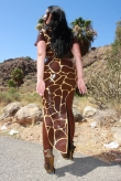 Latex Kleid Giraffe