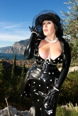 Latex Kleid Polka Fever
