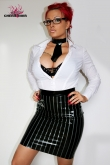 Latex Skirt Pinstripe