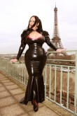 Latex Schleppenrock Paris Couture