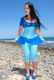Latex Capri Leggings Dolphin
