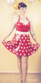 Latex Kleid Rockabilly Diva