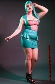 Latex Kleid Bubble Gum