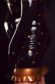 Latex Kleid Diva Dots