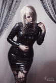 Miss Rivet Latex Dress
