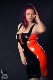 Latex Kleid Racing Curves