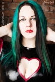 Latex Oberteil Heart Love
