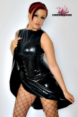 Latex Dress Cherie Noir